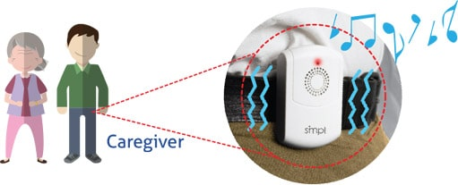SMPL Portable Alarm alerts caregive wherever they are