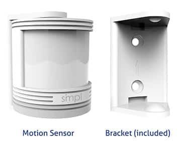 Motion sensor and bracket