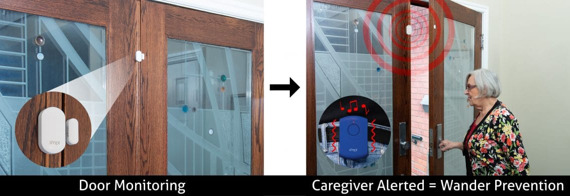 Designed to prevent seniors with dementia or Alzheimer's or children from wandering