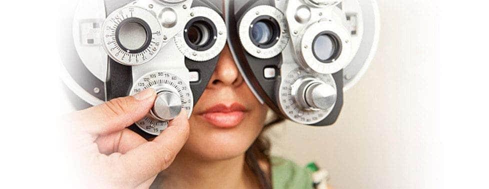 Lady Getting Eye Exam