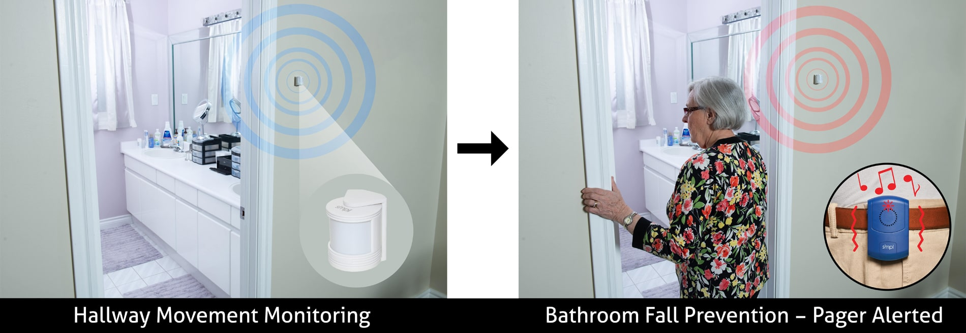Hallway Monitoring - Bathroom Fall Prevention