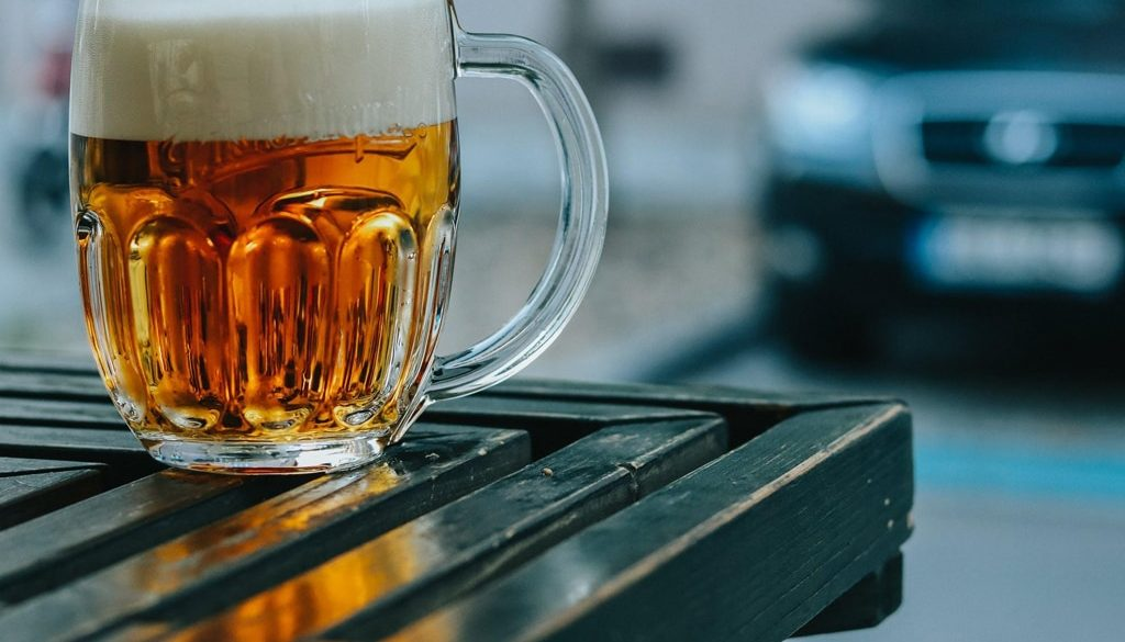 Mug of beer alcohol consumption